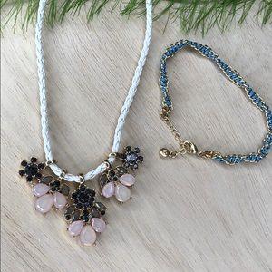 LC Lauren Conrad Statement Necklace And Bracelet